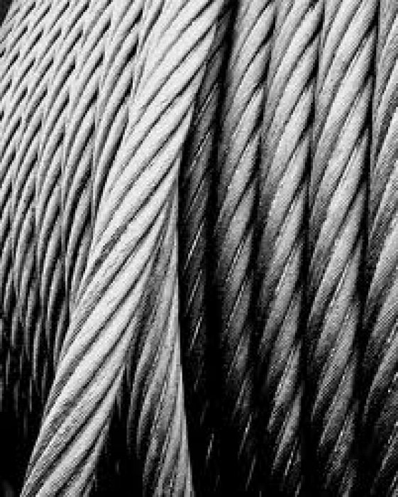 BRAIDED STEEL CABLE 5X7+1