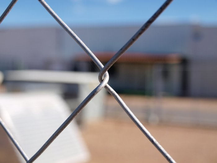 CHAIN LINK WIRE GATE 50/14 COATED WITH POLYESTER POWDER