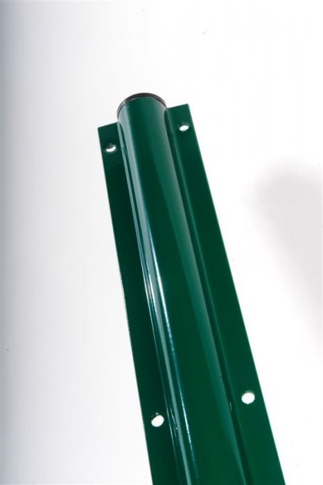METAL START/END POST COATED WITH POLYESTER POWDER IN GREEN 45/1,5 MM