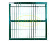 FOLDED RIGID PANEL GATE COATED WITH POLYESTER POWDER